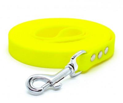 "Поводок из биотана Dogbe ""Гекса"", желтый - 20 мм * 5 м"