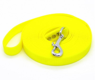"Поводок из биотана Dogbe ""Гекса"", желтый - 16 мм * 3 м"