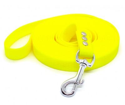"Поводок из биотана Dogbe ""Гекса"", желтый - 20 мм * 3 м"