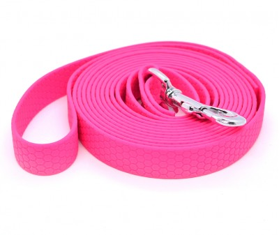 "Поводок из биотана Dogbe ""Гекса"", розовый - 20 мм * 3 м"
