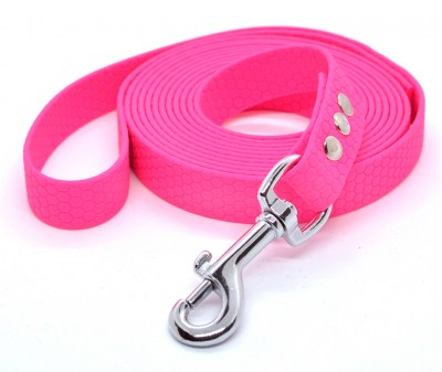 "Поводок из биотана Dogbe ""Гекса"", розовый - 20 мм * 2 м"