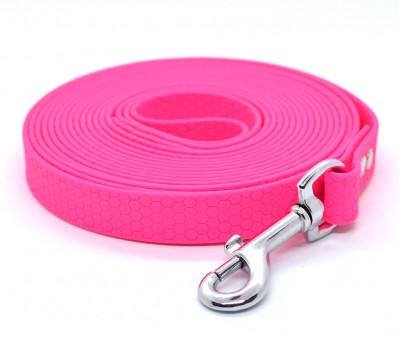"Поводок из биотана Dogbe ""Гекса"", розовый - 20 мм * 5 м"