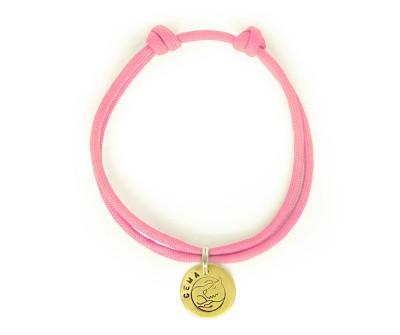 Шнурок для адресника  | розовый