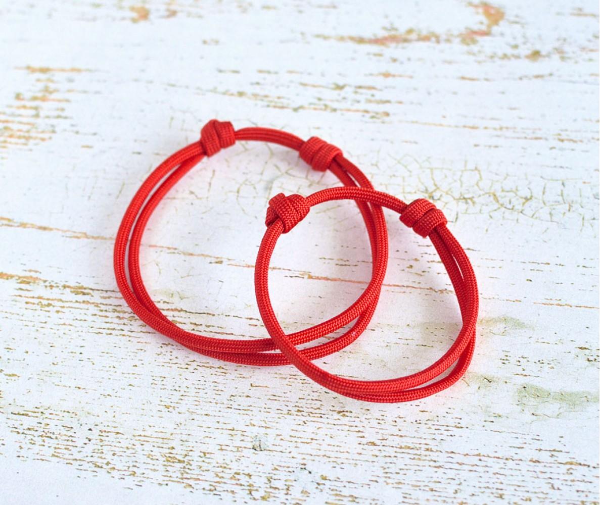 Шнурок для адресника для собаки, кошки| красный