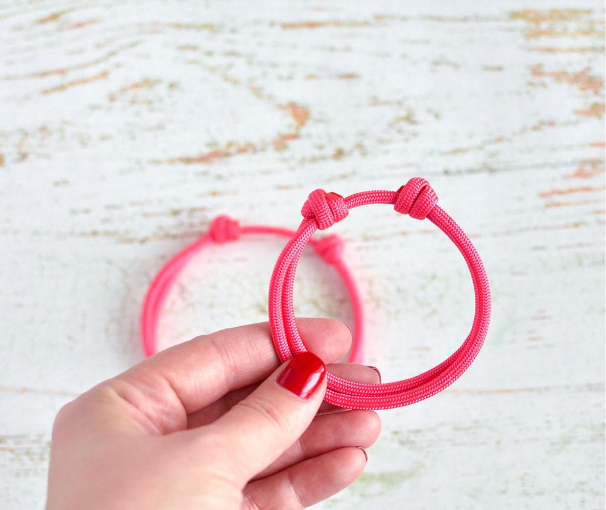 Шнурок для адресника для собаки, кошки     розовый