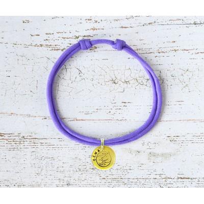 Шнурок для адресника  | фиолетовый