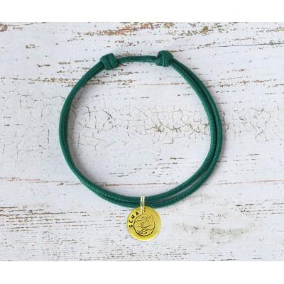 Шнурок для адресника  | темно-зеленый