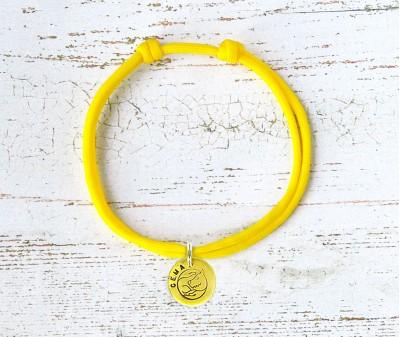 Шнурок для адресника  | желтый