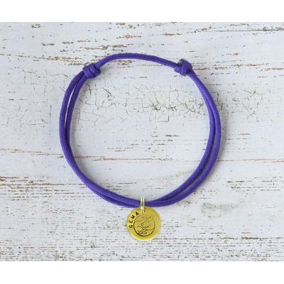 Шнурок для адресника  | темно-фиолетовый