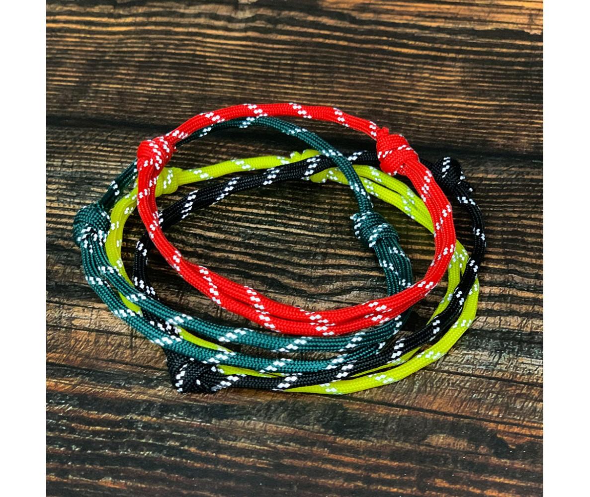 Ошейник-шнурок для адресника светоотражающий  для собаки, кошки| красный