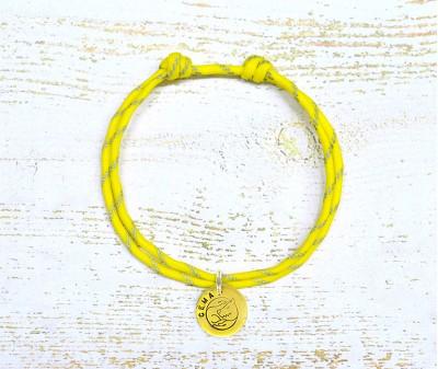 Шнурок светоотражающий  | желтый