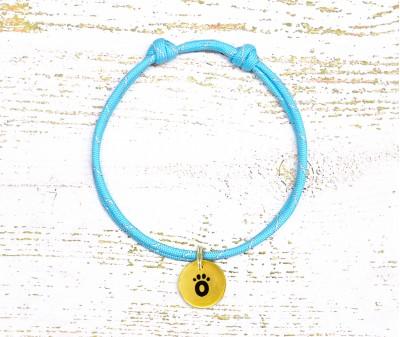 Шнурок светоотражающий  | голубой