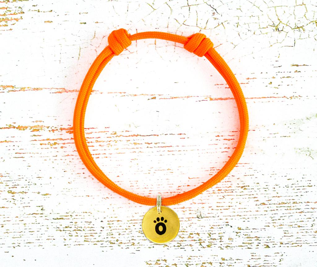 Шнурок для адресника для собаки, кошки   | оранжевый Neon