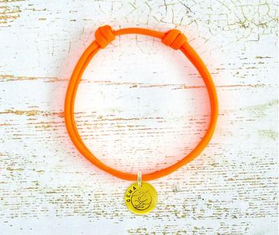 Шнурок для адресника  | оранжевый Neon