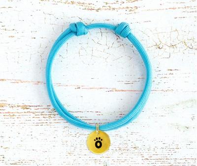 Шнурок для адресника  | голубой