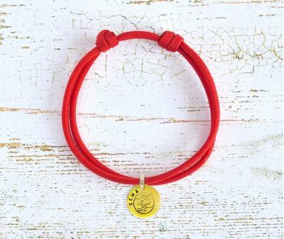 Шнурок для адресника  | красный