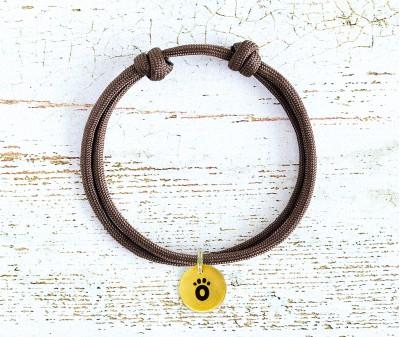 Шнурок для адресника    коричневый