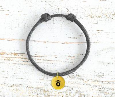 Шнурок для адресника  | серый