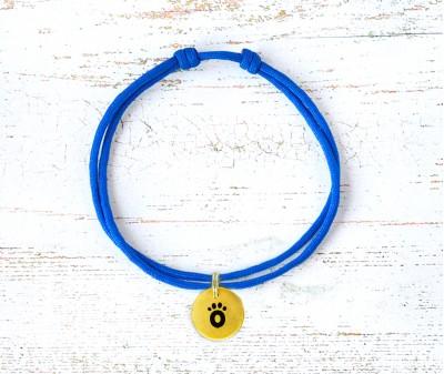 Шнурок для адресника  | синий