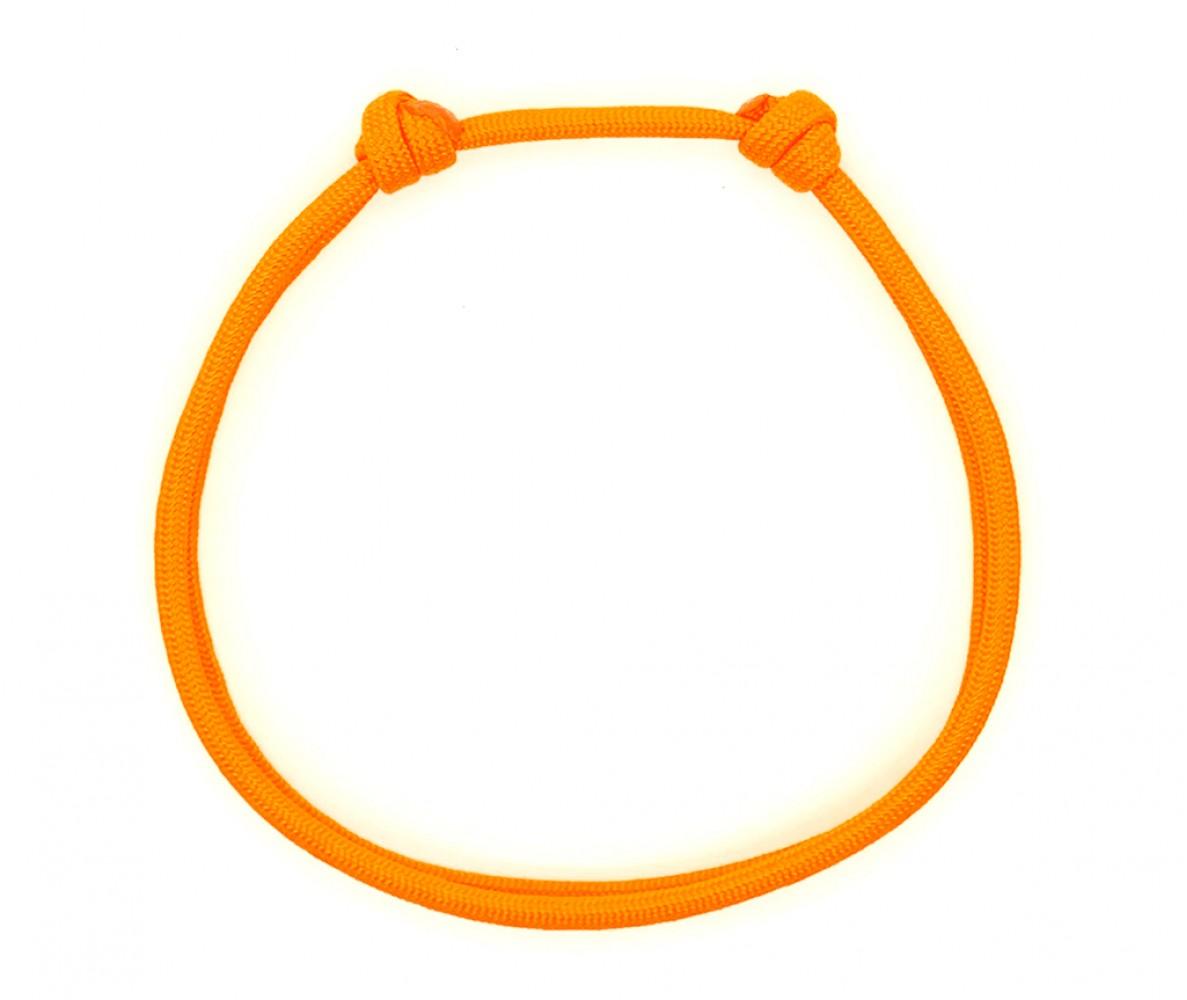 Шнурок для адресника для собаки, кошки     оранжевый Neon