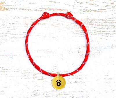 Шнурок светоотражающий  | красный