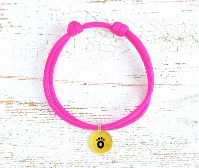 Шнурок для адресника  | розовый Neon