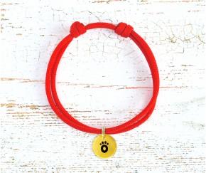 Шнурок для адресника  | красный ...