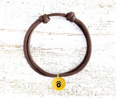 Шнурок для адресника  | коричневый