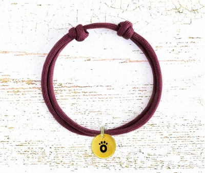 Шнурок для адресника  | бордовый