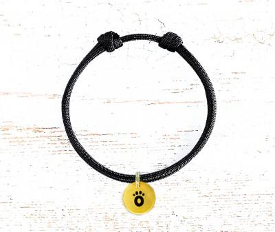Шнурок для адресника  | черный