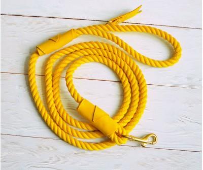 Поводок из каната желтый 8 мм, длин...