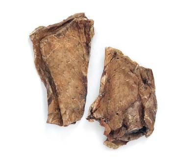 Легкое говяжье сушёное  слайсы  8-10  см   100 гр