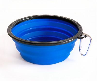 Миска складная дорожная, синяя / 1000 мл