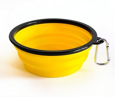 Миска складная дорожная, желтая / 1000 мл