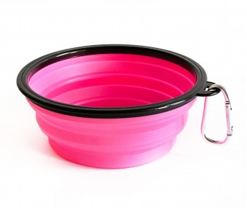 Миска складная дорожная, розовая / ...