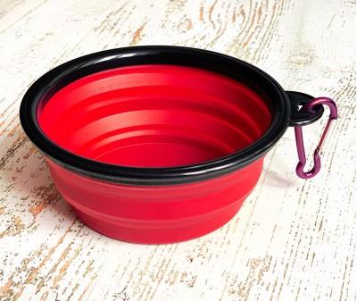 Миска складная дорожная, красная / 250 мл, D13 см