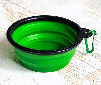 Миска складная дорожная, зеленая / 250 мл, D13 см