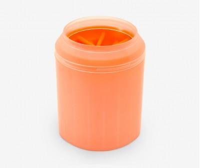 Лапомойка для собак, оранжевая - высота 9 см /  S