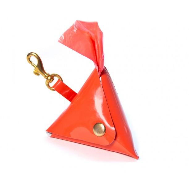 Сумка диспенсер Dog Walking Bag для гигиенических пакетов или лакомств | оранж