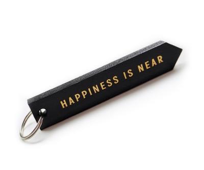 "Брелок для ключей ""HAPPINES IS NEAR""   | черный"