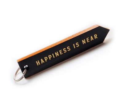 "Брелок для ключей ""HAPPINES IS NEAR""   | оранжевый"