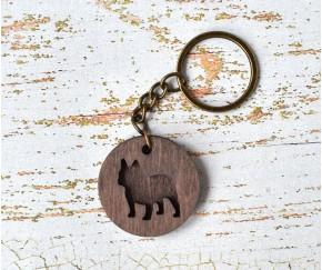 Деревянный брелок для ключей