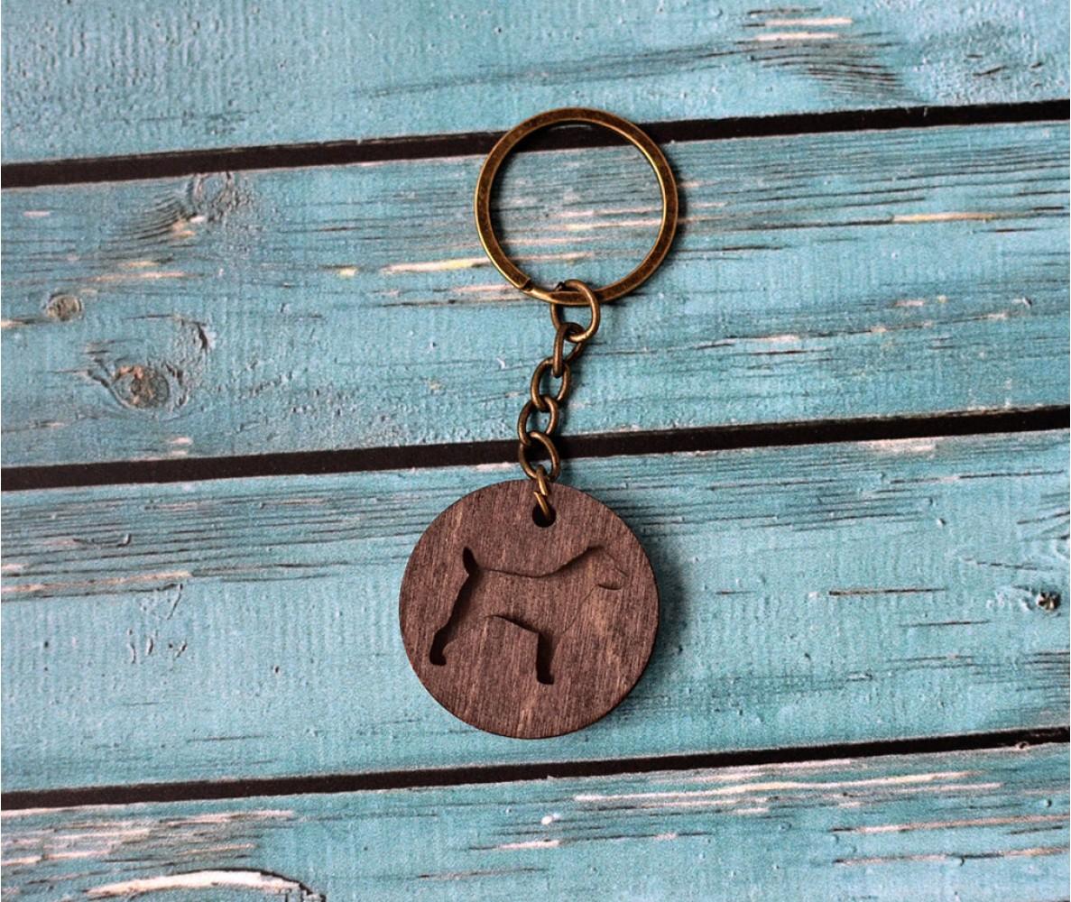 """Деревянный брелок для ключей """"Стаффорд"""""""