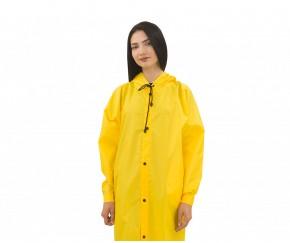 Дождевик женский на кнопках   желты...