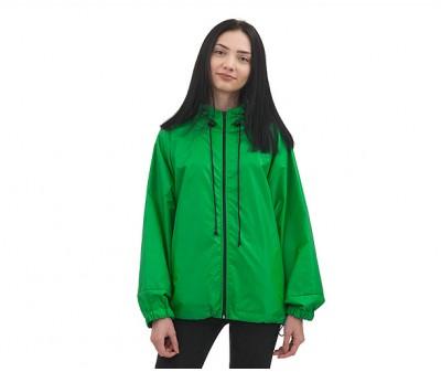 Куртка  ветровка на молнии  | зеленая