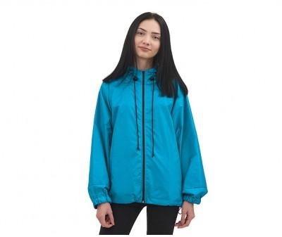 Куртка  ветровка на молнии  | голубая