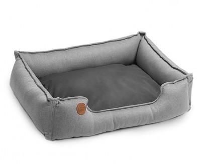 """Лежанка для собак """"SCOTCH"""" светло-серый   60*45, 70*50, 90*60 см"""