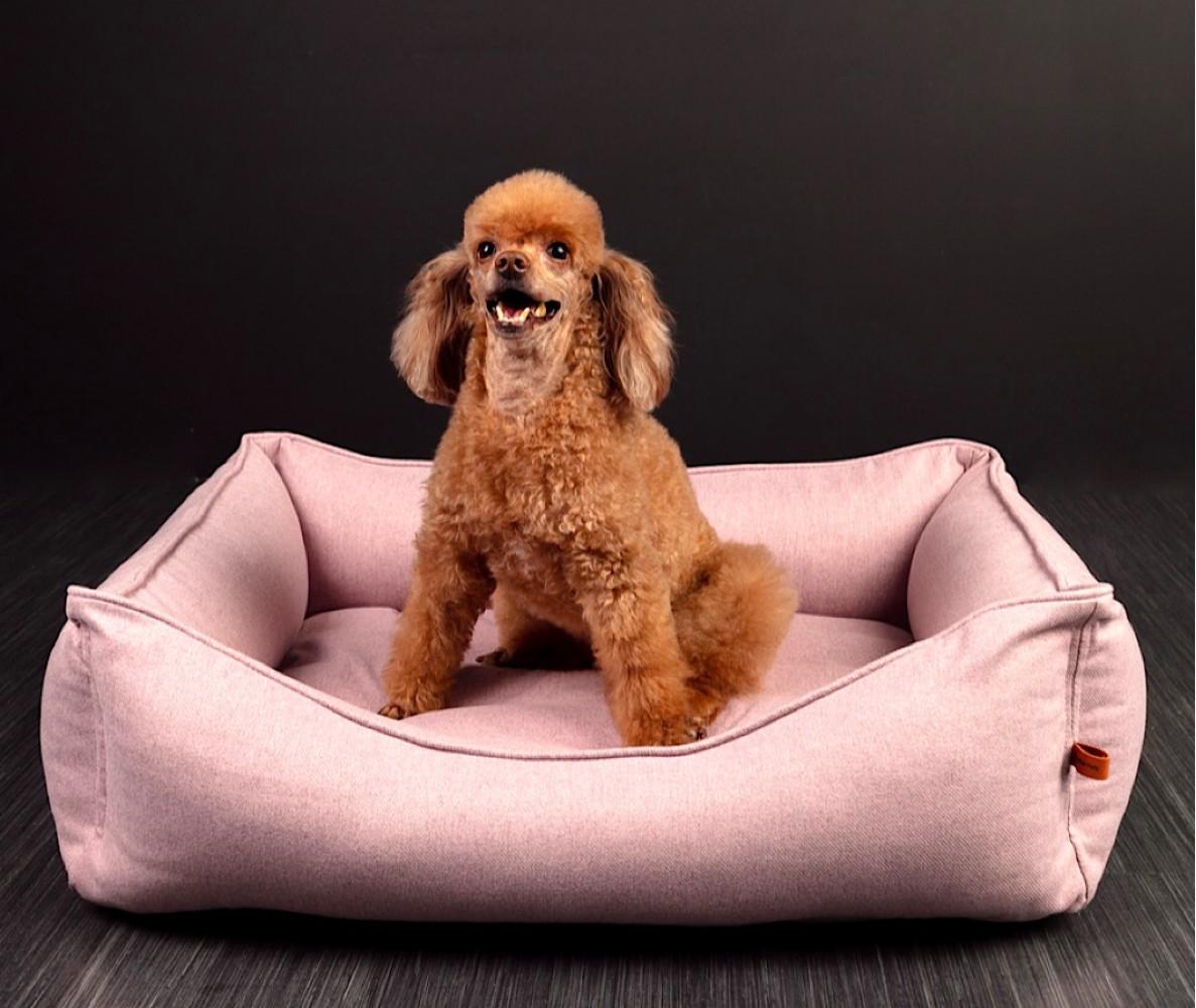 "Лежанка ""Wool""  розовая  | 70*55  см"