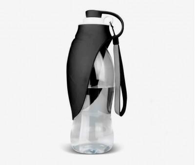 """Поилка бутылка """"Лепесток"""" силиконовая, 580 мл, черная"""