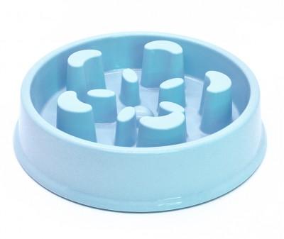 Миска лабиринт Slow Eat для медленного кормления, голубая №2
